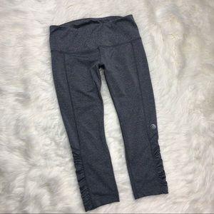 MPG capris gray crops athletic leggings pants M